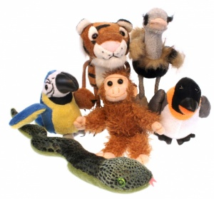 Zoo Animals set of Six Finger Puppets