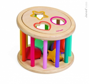 Janod I Wood Shape Shape Sorter Drum