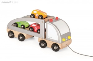 Janod Wooden Multi Cars Truck