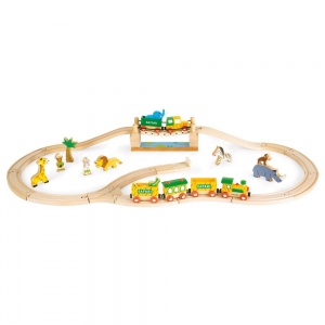Janod Story Express Safari Train Set