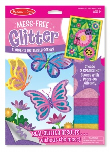 Mess Free Glitter Flower and Butterfly