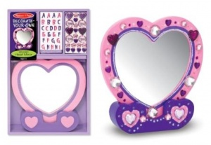 Decorate Your Own Heart Mirror
