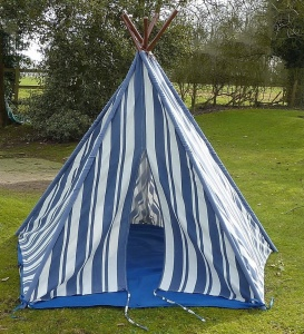 Children's New England Stripe Wigwam Tent