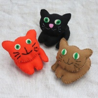 Buttonbag Kitten Crew Craft Kit