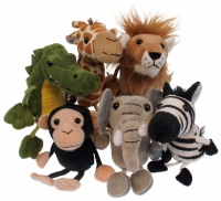 African Animals set of Six Finger Puppets