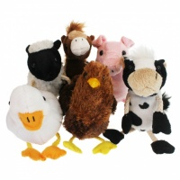 Farm Animals set of Six Finger Puppets
