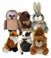 Woodland Animals set of Six Finger Puppets