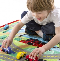 Melissa & Doug  Round the Town Rug & Cars